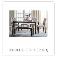 COS-BETTY DINING SET (1+4+1)